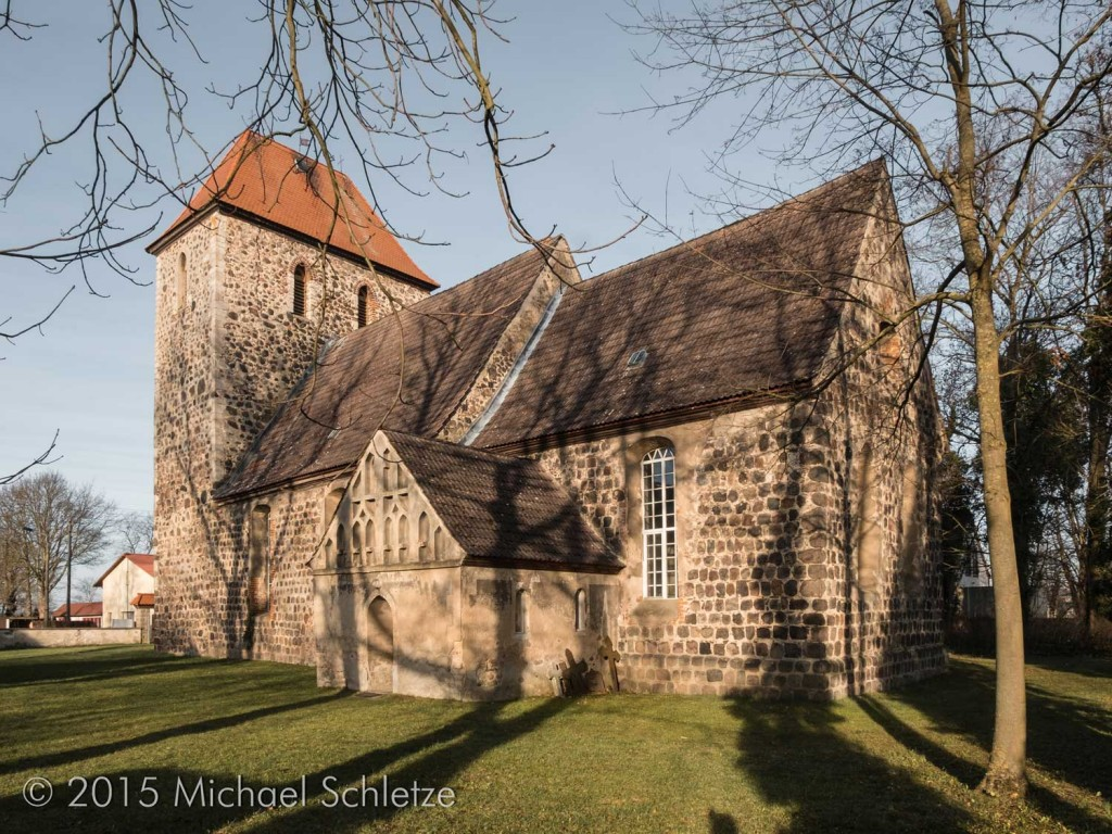 Ein imposantes Bauwerk: Die Dorfkirche von Rehfelde