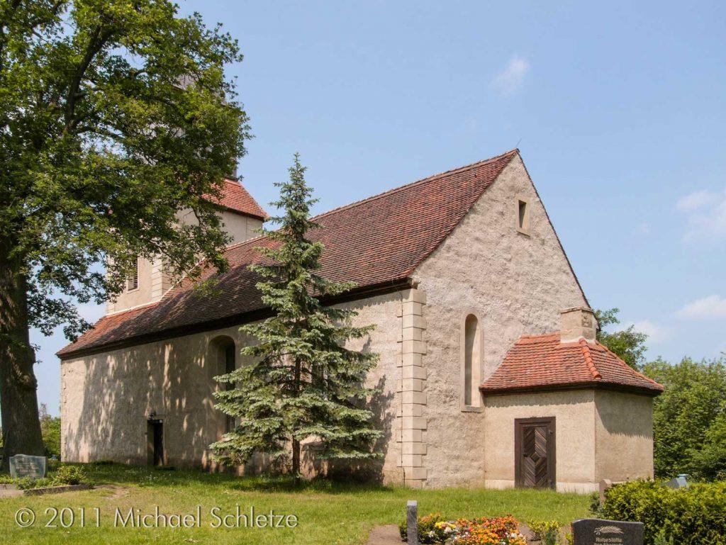 Erscheint heute als barocker Putzbau: Das mittelalterliche Gotteshaus von Zernikow