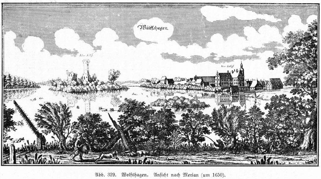 Merian-Stich um 1650 (nach: Blunck/Eichholz, Die Kunstdenkmäler der Provinz Brandenburg. 3.1. Kreis Prenzlau. 1921. S. 374, Abb. 329)